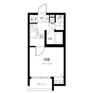 1K Apartment in Higashikamata - Ota-ku Floorplan