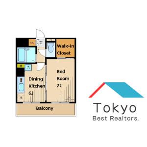 1DK Mansion in Honcho - Nakano-ku Floorplan