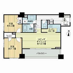 2LDK Mansion in Kitashinjuku - Shinjuku-ku Floorplan