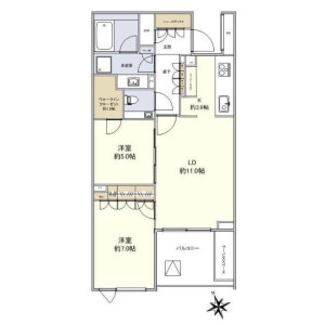 2LDK {building type} in Hiroo - Shibuya-ku Floorplan