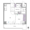 1DK Apartment to Buy in Shinjuku-ku Floorplan