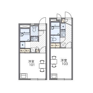 1K Apartment in Higashitokorozawa - Tokorozawa-shi Floorplan