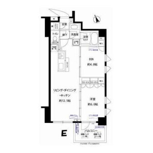 1SLDK Apartment in Tomigaya - Shibuya-ku Floorplan
