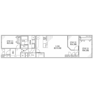 澀谷區代々木-3LDK{building type} 房間格局