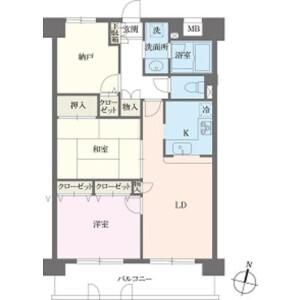 2SLDK Mansion in Honkomagome - Bunkyo-ku Floorplan