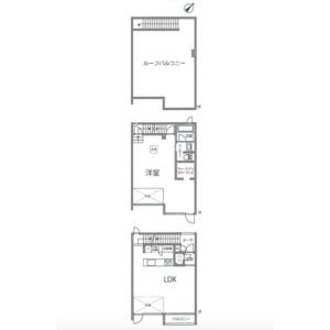 1LDK {building type} in Yoyogi - Shibuya-ku Floorplan