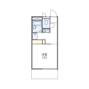 1K Apartment in Tarumachi - Yokohama-shi Kohoku-ku Floorplan