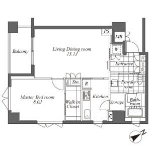 1SLK Mansion in Ebisuminami - Shibuya-ku Floorplan
