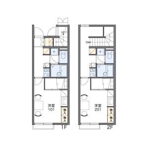 1K Apartment in Ogi - Adachi-ku Floorplan