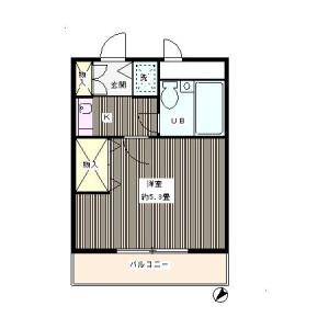 1K Mansion in Shoan - Suginami-ku Floorplan