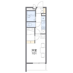 1K Mansion in Yahagicho - Nagoya-shi Moriyama-ku Floorplan