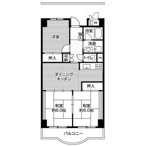 港區海岸(3丁目)-3DK公寓大廈 房間格局