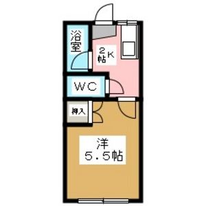 1K Apartment in Ishizaka - Dazaifu-shi Floorplan