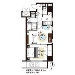 1LDK Mansion in Iwamotocho - Chiyoda-ku Floorplan