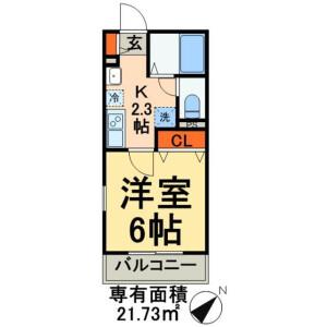 1K Apartment in Yanaka - Taito-ku Floorplan