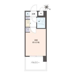 1K {building type} in Ichiokamotomachi - Osaka-shi Minato-ku Floorplan