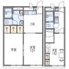 2DK Apartment to Rent in Hirakata-shi Floorplan