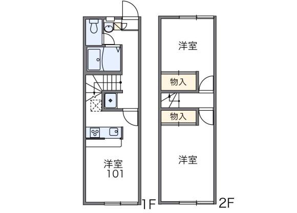 2DK Apartment to Rent in Neyagawa-shi Floorplan