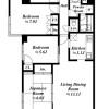 4LDK Apartment to Rent in Shinjuku-ku Floorplan