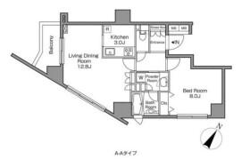 目黒区上目黒-1LDK公寓大厦