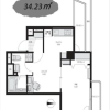 1LDK Apartment to Buy in Sumida-ku Floorplan