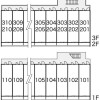 1K Apartment to Rent in Toyohashi-shi Layout Drawing
