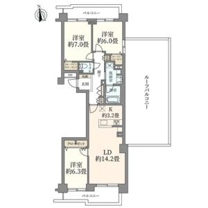 3LDK {building type} in Minamikarasuyama - Setagaya-ku Floorplan