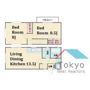2LDK House in Kitashinjuku - Shinjuku-ku Floorplan