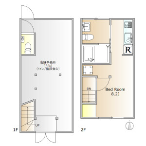 1R House in Hiroo - Shibuya-ku Floorplan