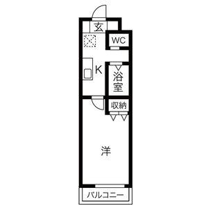 1K Mansion in Hongucho - Nagoya-shi Minato-ku Floorplan