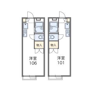 1K Apartment in Tachibanacho - Higashiosaka-shi Floorplan