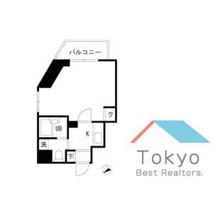 1K Mansion in Honshiocho - Shinjuku-ku Floorplan