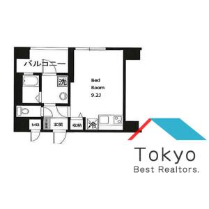 品川區西五反田-1R公寓大廈 房間格局