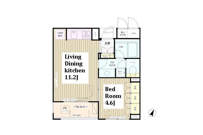 1ldk apartment nishiwaseda sonota shinjuku ku tokyo for Japanese apartment floor plan