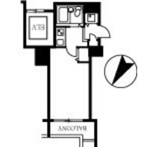 1K Mansion in Higashinihombashi - Chuo-ku Floorplan