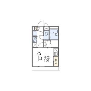 1K Apartment in Motomiya - Otsu-shi Floorplan