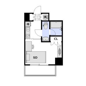 1K Mansion in Omorihoncho - Ota-ku Floorplan
