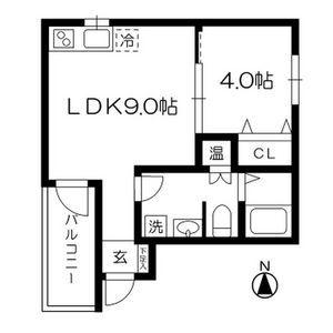 1LDK Apartment in Sentai - Osaka-shi Sumiyoshi-ku Floorplan