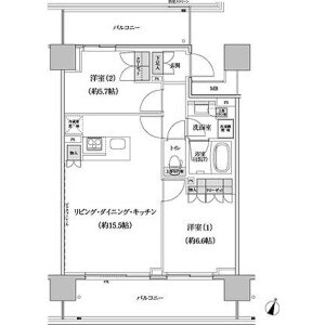 2LDK Apartment in Hommachi - Shibuya-ku Floorplan