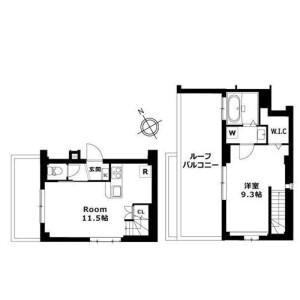 1LDK Mansion in Chuocho - Meguro-ku Floorplan