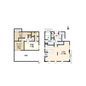 1SLDK House in Kamimeguro - Meguro-ku Floorplan