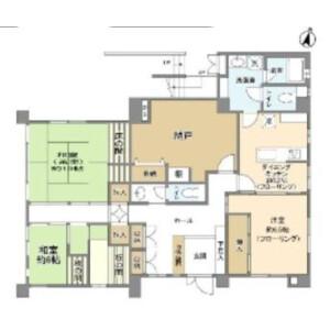 港区南青山-3DK独栋住宅 楼层布局