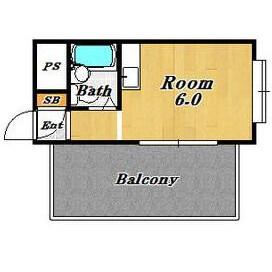 1R Apartment in Nozato - Osaka-shi Nishiyodogawa-ku Floorplan