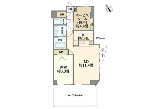 1SLDK Apartment to Buy in Yokohama-shi Naka-ku Floorplan