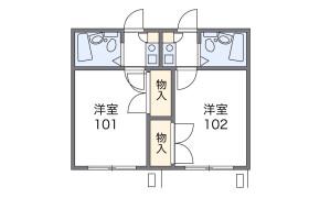 さいたま市中央区 新中里 1K アパート