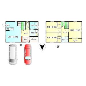 3LDK House in Shimoawazumachi - Komatsu-shi Floorplan