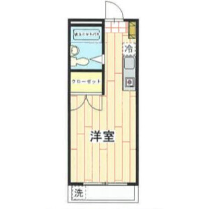 1K Mansion in Kamidaira - Fussa-shi Floorplan
