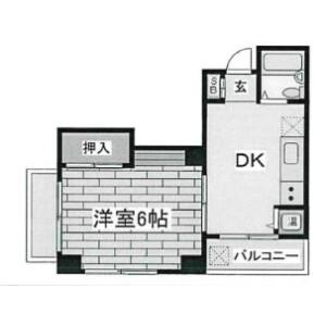1DK Mansion in Hashimoto - Sagamihara-shi Midori-ku Floorplan
