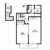 1LDK Apartment to Rent in Edogawa-ku Floorplan