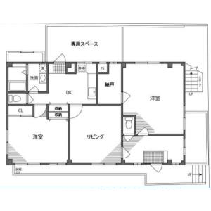 2SLDK Mansion in Nishishinagawa - Shinagawa-ku Floorplan
